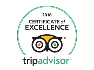 The trevross Hotel has the TripAdvisor 2018 Certificate of Excellance